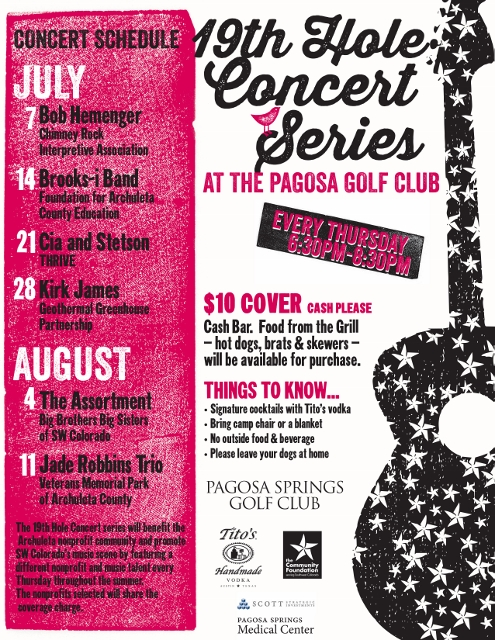 19TH HOLE 2016 Flyer